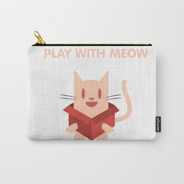 Play with Meow Carry-All Pouch
