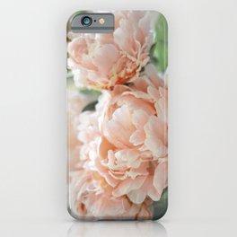 Peach Peonies iPhone Case