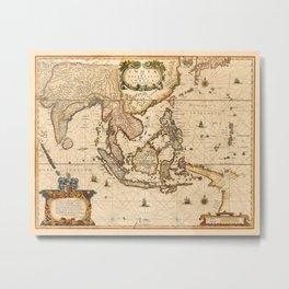 Map Of Asia 1639 Metal Print