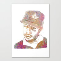 j dilla Canvas Prints featuring J Dilla Marble Effect by JLillustration