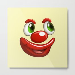 Design 479 - clown face Metal Print