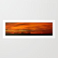 Panoramic sunset Art Print