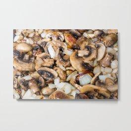 Fried Mushrooms and Onions Metal Print