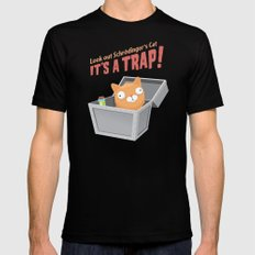 It's a trap! Mens Fitted Tee LARGE Black