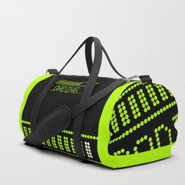 Green Loading Time Bar Duffle Bag
