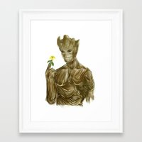 groot Framed Art Prints featuring Groot by Augeo