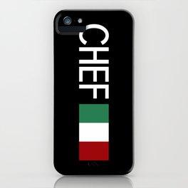 Chef (Italian Flag) iPhone Case