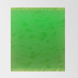 Bright Green Stitch Throw Blanket