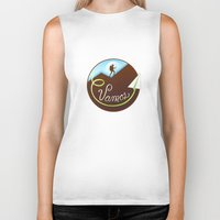 hiking Biker Tanks featuring Vamos (Let's Go) - Hiking by Tanita
