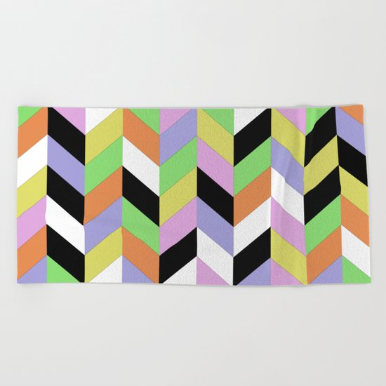 Stacked Colour Beach Towel