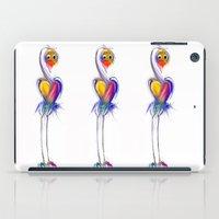 swan iPad Cases featuring swan by tatiana-teni