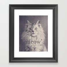 Famous Quotes #2 (anonymous cat, 1952) Framed Art Print