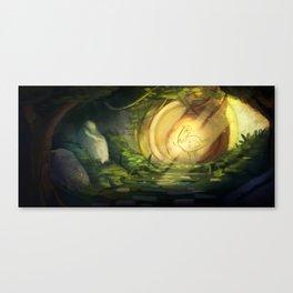 Trash Dove Ruins Canvas Print