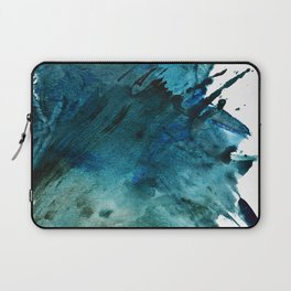 Scenic Route [2]: a pretty, minimal abstract piece in blue and green by Alyssa Hamilton Art Laptop Sleeve