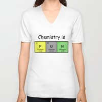 chemistry V-neck T-shirts featuring Chemistry is by Rhodium Clothing