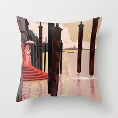 The Vampires of Venice Throw Pillow