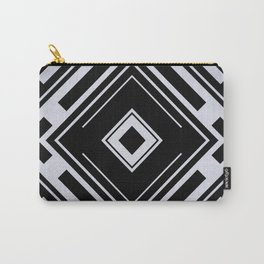 Black and White Tribal Pattern Diamond Shapes Geometric Geometry Contrast I Carry-All Pouch