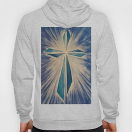 Radiant Blue Cross Hoody