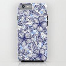 Indigo Summer - a hand drawn floral pattern Tough Case iPhone 6