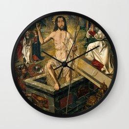 Resurrection by Bartolome Bermego, 1475 Wall Clock