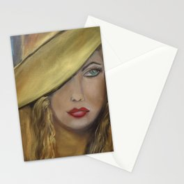 Girl with the Gold Hat Stationery Cards