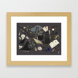 Witch's things Framed Art Print