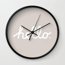 Hello: The Macintosh Office (Beige) Wall Clock