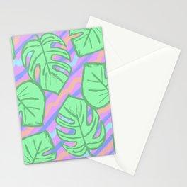 Tropical AF Monstera in Bubblegum Stationery Cards