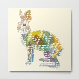 Ugly Sweater Hare Metal Print