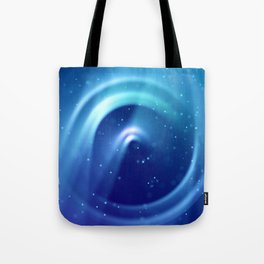 Center of Blue Galaxy Tote Bag