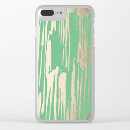 Bamboo Bronze Gold 1 Clear iPhone Case