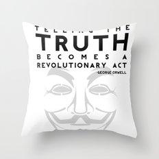 Truth Revolution - V for Vendetta Throw Pillow