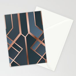 Dark Blue Art Deco Stationery Cards