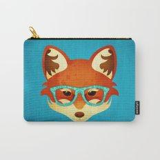 Hipster Fox: Azure Carry-All Pouch