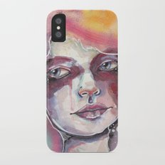 Deep space watercolor iPhone X Slim Case