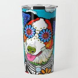 Happy Border Collie Travel Mug