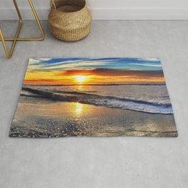 beach-sunset Rug