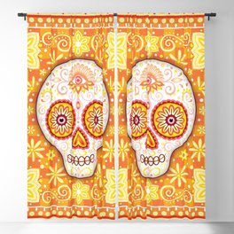Sugar Skull Art - Day of the Dead Skull Art by Thaneeya McArdle Blackout Curtain