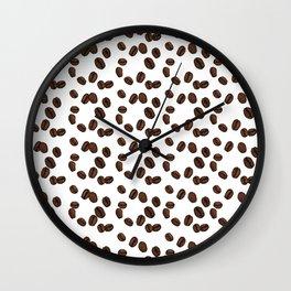 Coffee Beans - White Wall Clock