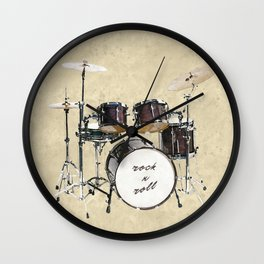 Drumkit Wall Clock