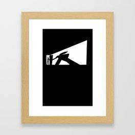 The Visitor Silhouette Framed Art Print