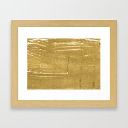 Aztec Gold abstract watercolor Framed Art Print