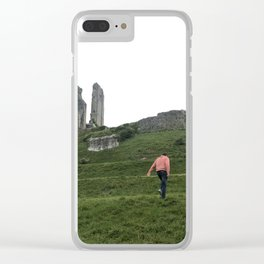 Corfe Castle Wanderlust medieval Clear iPhone Case