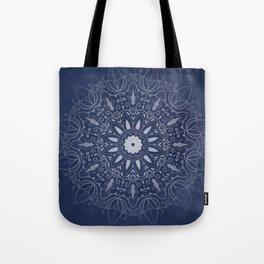 Indigo Mystique Mandala Tote Bag