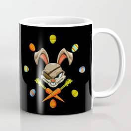 Pirate Easter Bunny Stealing Your Colored Eggs Coffee Mug