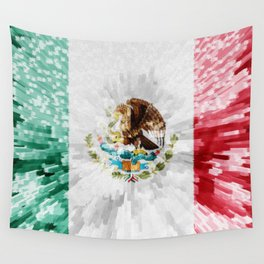 Extruded Flag of Mexico Wall Tapestry