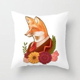 Victorian Fox Throw Pillow