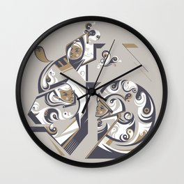 Coffee with milk Wall Clock