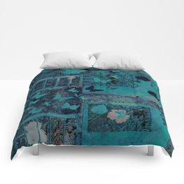 butterflies_I turquoise Comforters