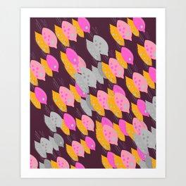 Design exotic lemons on chocolate Art Print